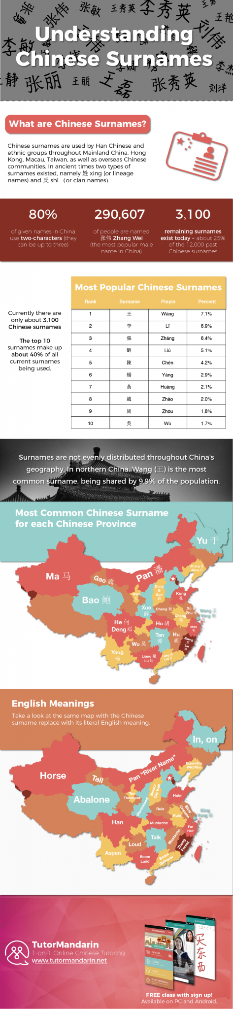 Chinese Surname Infographic