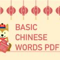 basic Chinese words PDF